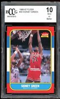 1986-87 Fleer #40 Sidney Green Card BGS BCCG 10 Mint+