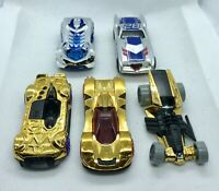 Hot Wheels Chrome Silver/ Gold Die Cast Bundle Joblot Cars
