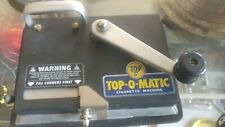 VINTAGE TOBACCO PAPER TOP-O-MATIC METAL CIGARETTE ROLLING MACHINE New