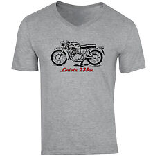MOTO GUZZI LODOLA 235CC-NUOVA cotone grigio V-Neck T-shirt