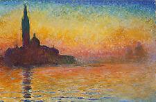 Incorniciato stampa-MONET San Giorgio Maggiore al tramonto (foto poster arte pittura)