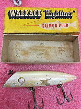 "FT2 5"" White Shiner Wallace Highliner Salmon Plug Trolling Fishing Lure wooden"