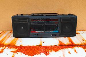 Hitachi W27 boombox. Double cassette player/radio combo