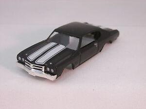 MODEL MOTORING BLACK W/WHITE STRIPES '70 CHEVELLE SS 396 SHELL ~ NEW ~ FITS TJET