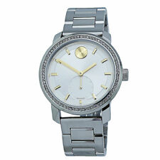 Movado Bold Silver Dial Stainless Steel Ladies Watch 3600617