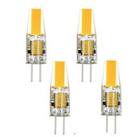 4-Pack G4 6W COB LED Warm White/White Color Light Lamps AC/DC 12V Dimmable Bulb