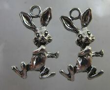 wholesale 20pcs Retro Style rabbit Tibet silver alloy Charms Pendants 20x12mm