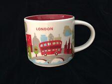 Starbucks London YAH Mug Tower Bridge Red Bus Thames Big Ben New You Are Here UK