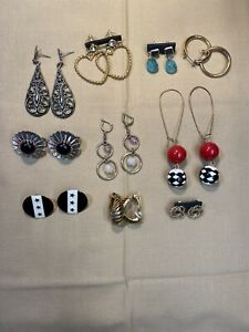 Assorted Lot Of Earrings X 10 Used