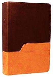 NIV 1984 - Large Print New International Version Bible - DuoTone Chocolate/Amber