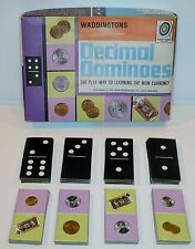 Vintage / Retro 1970's Decimal Dominoes - Waddingtons
