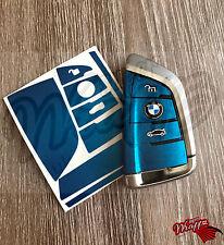 Blu METALLIZZATO BMW Chiave Adesivo Decalcomania Overlay X6 F16 X5 F15 GRAN TURISMO F46 7 G12