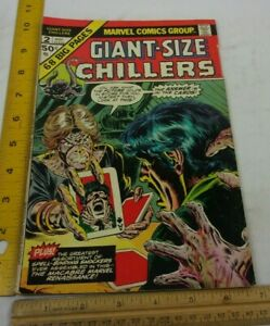Giant Size Chillers 2 comic book 1970s VG/F Bronze Age Everett card reader cover