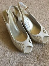 Monsoon Espadrilles Style Cream Summer Wedges Sandals Size 4 UK