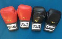 Everlast Elite Leather Training Boxing Gloves Size 12 Ounces White