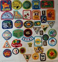 Vintage Girl Scout Badges Lot of 40 Patches, 90's, A2