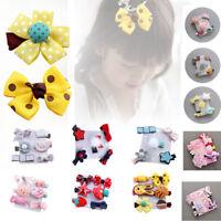 6Pcs/set Hairpin Baby Girl Hair Clip Bow Flower Mini Barrettes Star Kids Infant