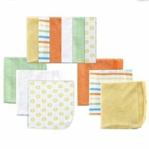 Luvable Friends Washcloths, 12-Pack, Yellow