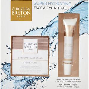 CHRISTIAN BRETON Super Hydrating Rich cream Face & Eye Ritual Set new in box