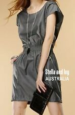 METALLIC SHIFT COCKTAIL DRESS SIZE 8 AU WOMENS NEW