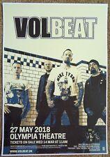 VOLBEAT 2018 Gig POSTER Dublin Ireland Concert
