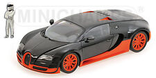Bugatti Veyron Super Sport Carbon & Orange Top Gear 1 18 Model Minichamps