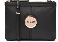 MIMCO Hip Bag Couch Black Matte Leather Rose Gold Hardware BNWT Dustbag RRP $199