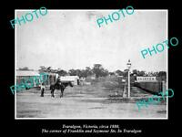 OLD LARGE HISTORIC PHOTO OF TRARALGON VICTORIA VIEW OF FRANKLIN ST c1880