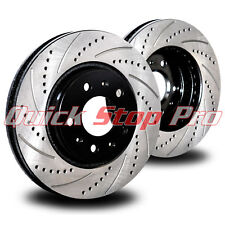 TOY051F Corolla 93-02 Front Performance Brake Rotor Cross Drill + Curve Slots