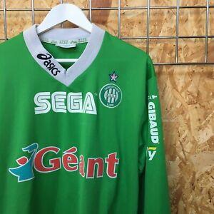St Etienne Asics Home Shirt L/S 1999/2000 XL EXTRA LARGE Chemise Dreamcast Sega