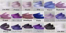 5yds--10mm Purple/Grape/Lt Orchid/Hyacinth Grosgrain Ribbon 17 COLOURS U PICK
