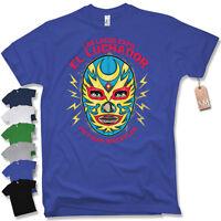 T-Shirt - MEXICAN WRESTLER- Wrestling Oldschool Trash MMA Fight man S M L XL XXL