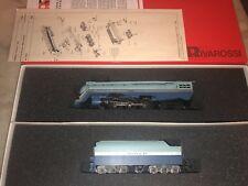 Rivarossi 5451 HO 4-6-4 Hudson Santa Fe Blue Goose n.3460 NOS