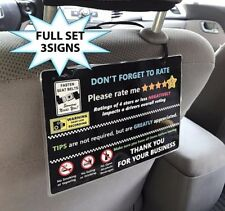 **REFLECTIVE** UBER DRIVER OVAL SIGN sticker vinyl car sign taxi//drivers//LYFT