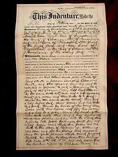 Old Document. States of Philadelphia and Pennsylvania