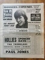 NME newspaper February 25th 1967 The Hollies concert Advert cover