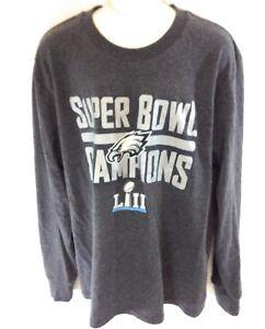 NEW Youth Kids Philadelphia Eagles Grey Super Bowl Champions Long Sleeve Shirt