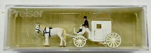 PREISER TT SCALE 75150 HORSE DRAWN CARRIAGE FIGURE SET