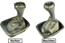 BMW E30 E32 Bj.85-93 Abdeckung Lederbezug Leder Schaltsack  für Schaltknauf N382