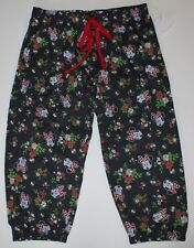 Disney NWT Jr Women's 3 5 7 9 S M Minnie Mouse PJ Lounge Capri Pants