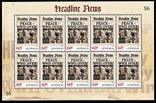 2013 Headline News PEACE WWII OVER! - LIMITED EDITION Sheetlet Of 10