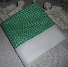 COUNTRY COTTAGE ST. PATRICKS DAY HOLIDAY COUNTRY GREEN PLAID PILLOWCASE - NEW