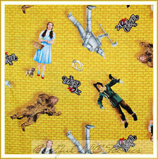BonEful Fabric FQ Cotton The Wizard of Oz Dorothy Character Yellow Brick Road Sm