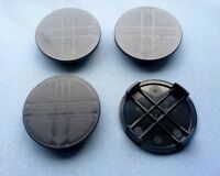4x Nabenkappen Nabendeckel Felgendeckel Träger 60,0 mm 56,0 mm schwarz N6S