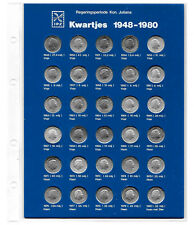 NETHERLANDS Coin Collection 25 CENTS 1948-1980. 1L.2