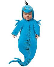 Dr. Seuss Baby Blue Fish Bunting Halloween Cosplay Costume Newborn 0-6 Months