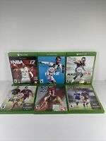 Xbox One Lot Of 6 Sports Games NBA FIFA W2k Madden All Games With Cases