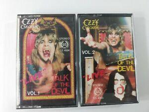 Ozzy Osbourne: TALK OF THE DEVIL Live Vol 1&2 Cassette Tapes Rare! Tested
