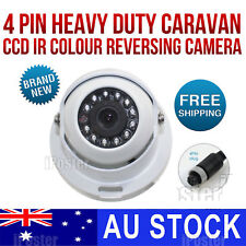 White 12 IR 4 PIN Heavy Duty Caravan CCD Reversing Camera rear view night vision