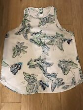 River Island Satin Butterfly Print Top Size 12